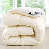 WHITE WARM WINTER WOOL QUILT COMFORTER