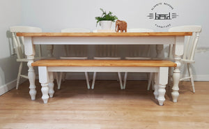 Rustic Farmhouse Bench - Bespoke - Handmade - Saravi Furniture