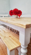 Load image into Gallery viewer, Rustic Farmhouse Bench - Bespoke - Handmade - Saravi Furniture