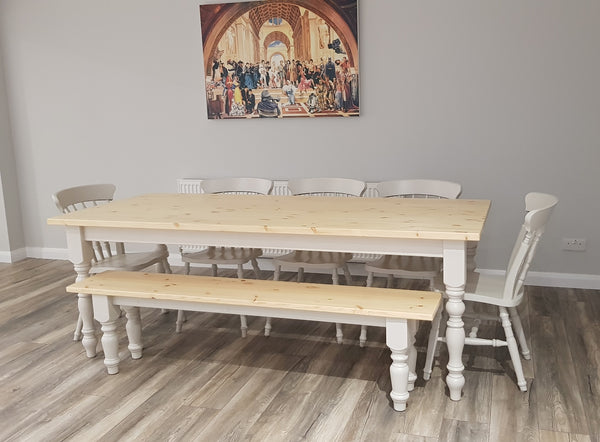 7ft Dining Table Set