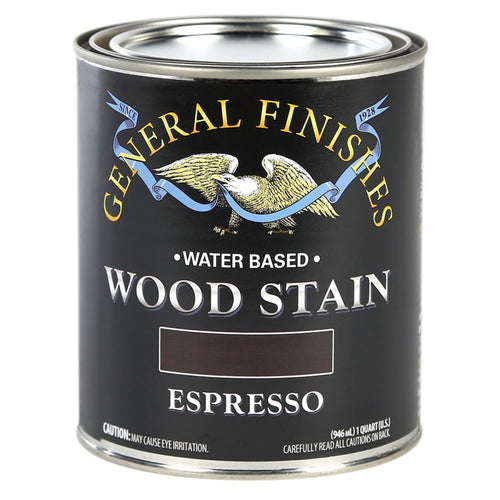 Espresso Water based wood stain tin 473ml by General Finishes