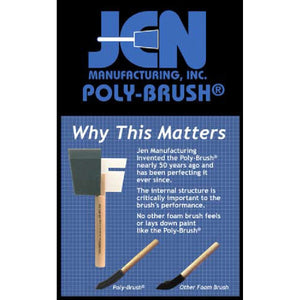 Why Jen Poly Foam Brushes are different - 2