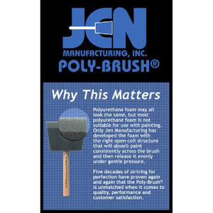 Why Jen Poly Foam Brushes are different?