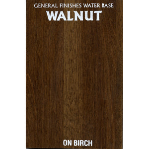 Walnut wood stain on a birch sample