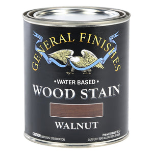 Walnut Water based wood stain tin 473ml by General Finishes