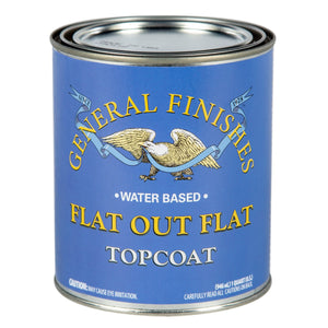 Flat Out Flat - Top Coat - Flat -Water Based - General Finishes - 473ml