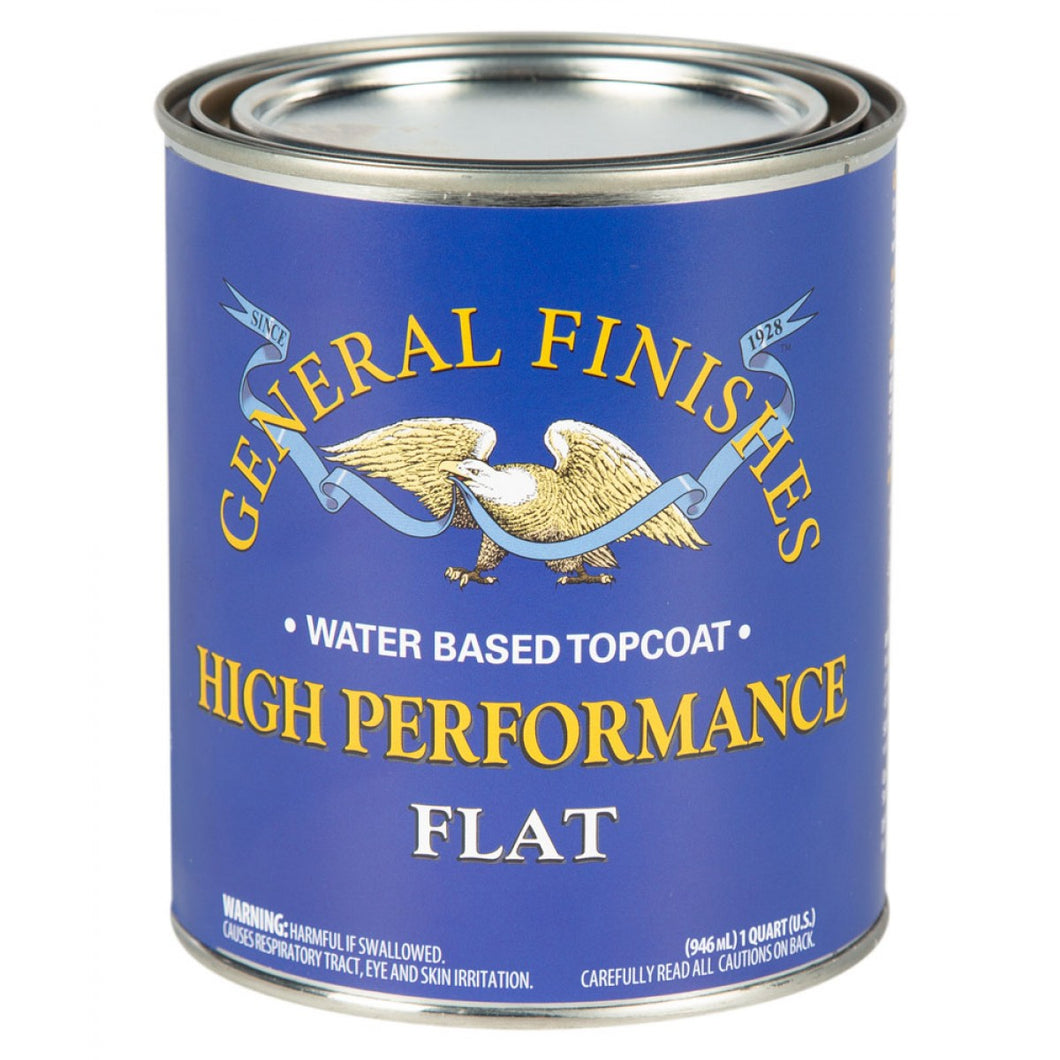 High Performance Top Coat - Flat -Water Based - General Finishes - 473ml