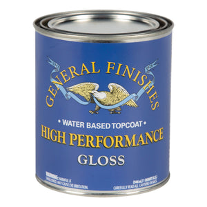 High Performance Top Coat - Gloss - Water Based - General Finishes - 473ml