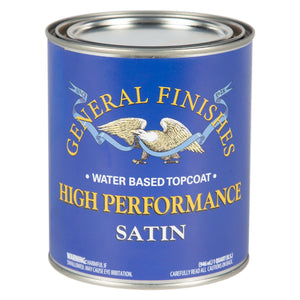 High Performance Top Coat - Satin -Water Based - General Finishes - 473ml