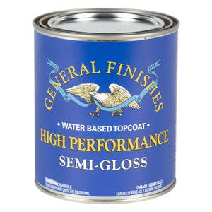 High Performance Top Coat - Semi Gloss -Water Based - General Finishes - 473ml