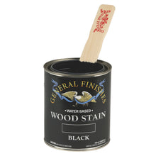 Load image into Gallery viewer, Black Water based wood stain tin 473ml by General Finishes