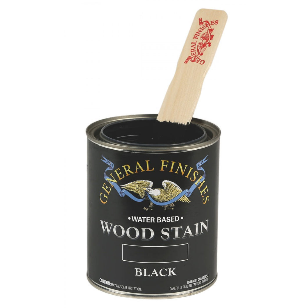Black Water based wood stain tin 473ml by General Finishes