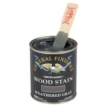 Load image into Gallery viewer, Weathered Gray Water based wood stain tin 473ml by General Finishes