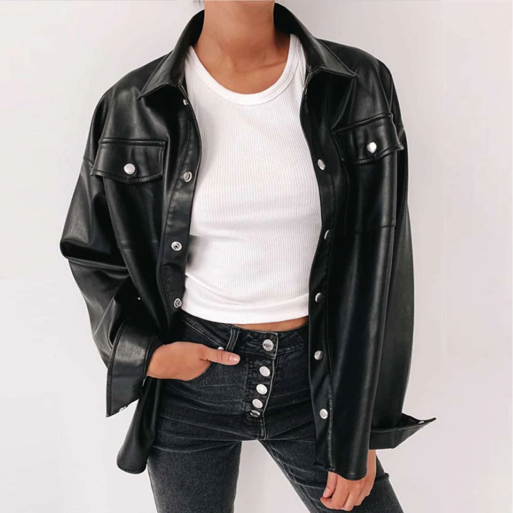 """Black Leather"" JACKET"