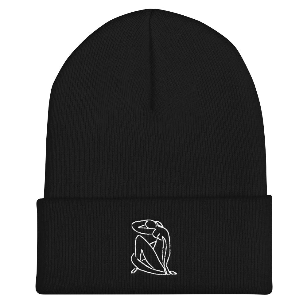 """MATISSE INSPIRED"" EMBROIDERED BEANIE"