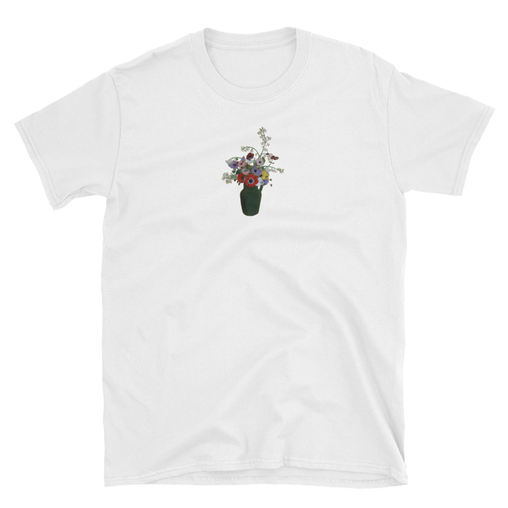 """GREEN VASE & FLOWERS"" PAINTING TEE"