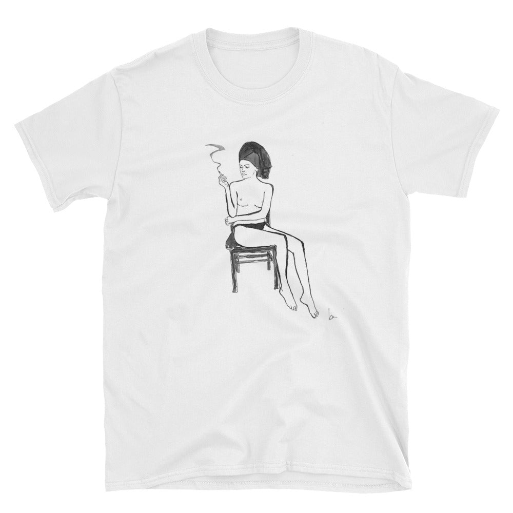 """THE SMOKING GIRL"" DRAWING TEE"