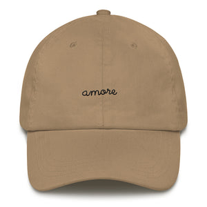 """AMORE"" EMBROIDERED CAP"