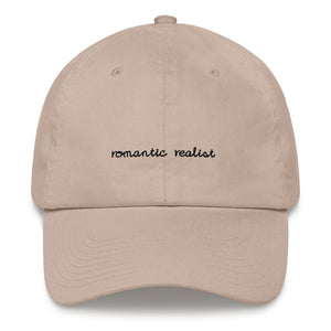 """ROMENTIC REALIST"" EMBROIDERED CAP"