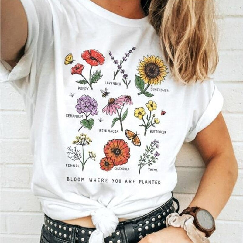 """Bloom Flowers"" TEE"