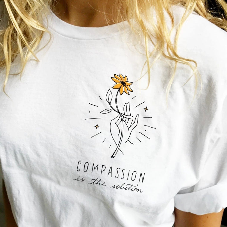 """Compassion Is The Solution"" TEE"