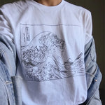 """The Great Wave"" Drawing TEE"