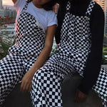 """Suspender Plaid "" Jumpsuit Trouser"
