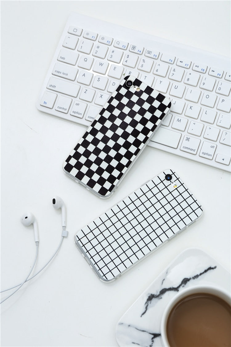 """Edgy Plaid"" Iphone Cases"