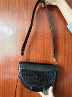 """SemiCircle Croco"" BAG"