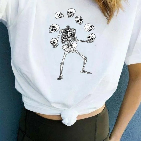 """Skeleton Heads Juggling"" TEE"