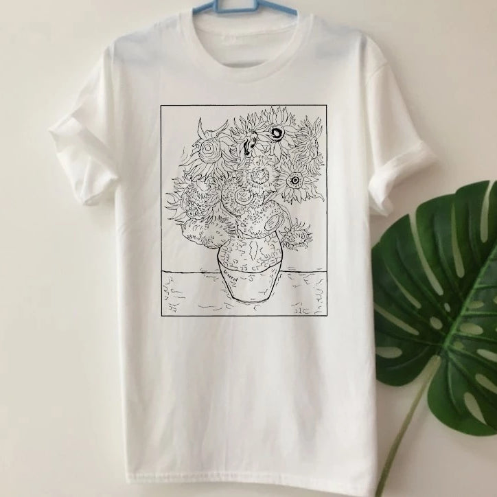 """Van Gogh Sunflower"" TEE"