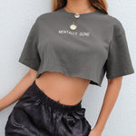 """Mentally Gone"" CROP TEE"
