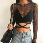 """Mesh Long Sleeve"" TOP"