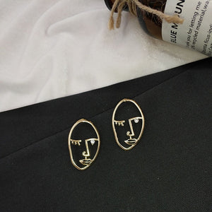 """ABSTRACT PORTRAIT"" EARRINGS"