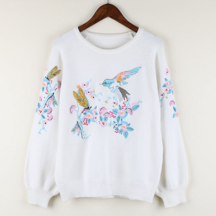 """FLOWER BIRD"" KNITTED SWEATERS"
