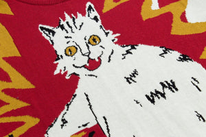 """CRAZY CAT"" SWEATER"