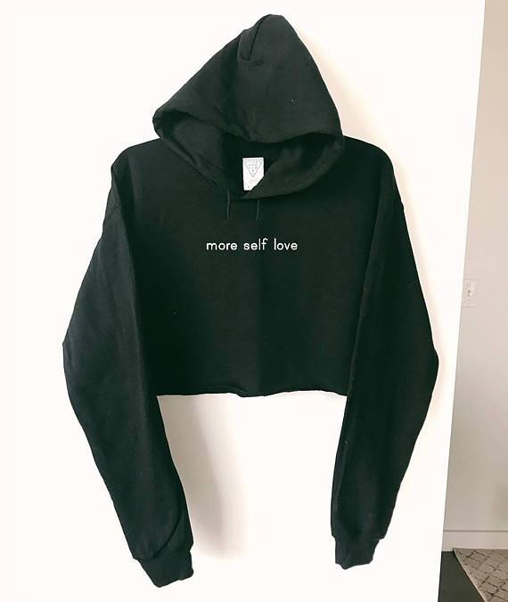 """More Self Love"" CROPPED HOODIE"