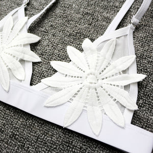"""MESH EMBROIDERED FLOWER"" SWIMWEAR"