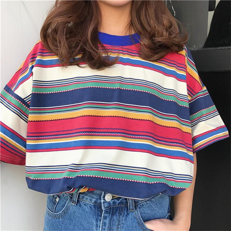"""PATCHWORK STRIPED"" TEE"