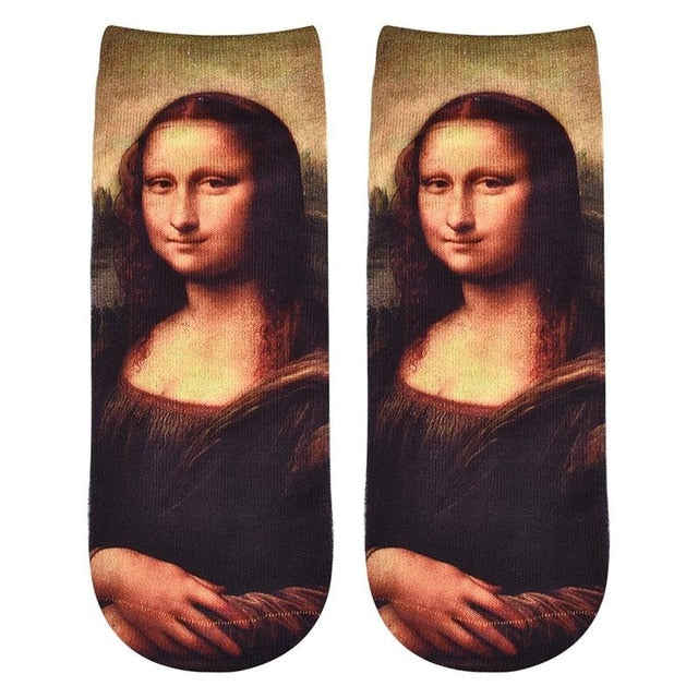 CLASSICAL PAINTING ANKLE SOCKS