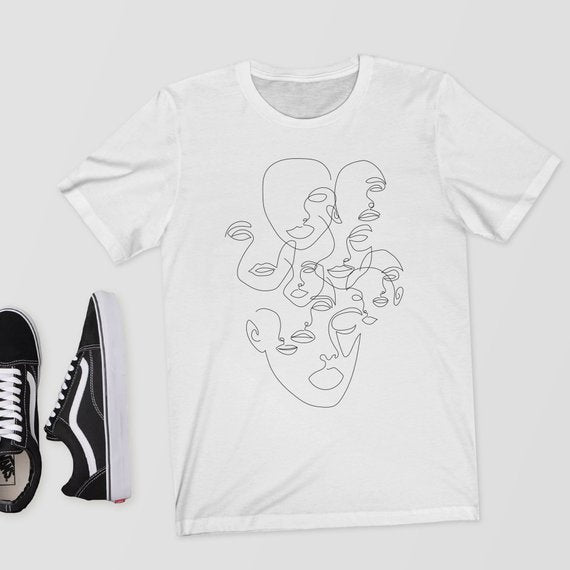 """DRAWING FACES""  TEE"