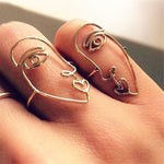 """ABSTRACT FACE"" RING SET"