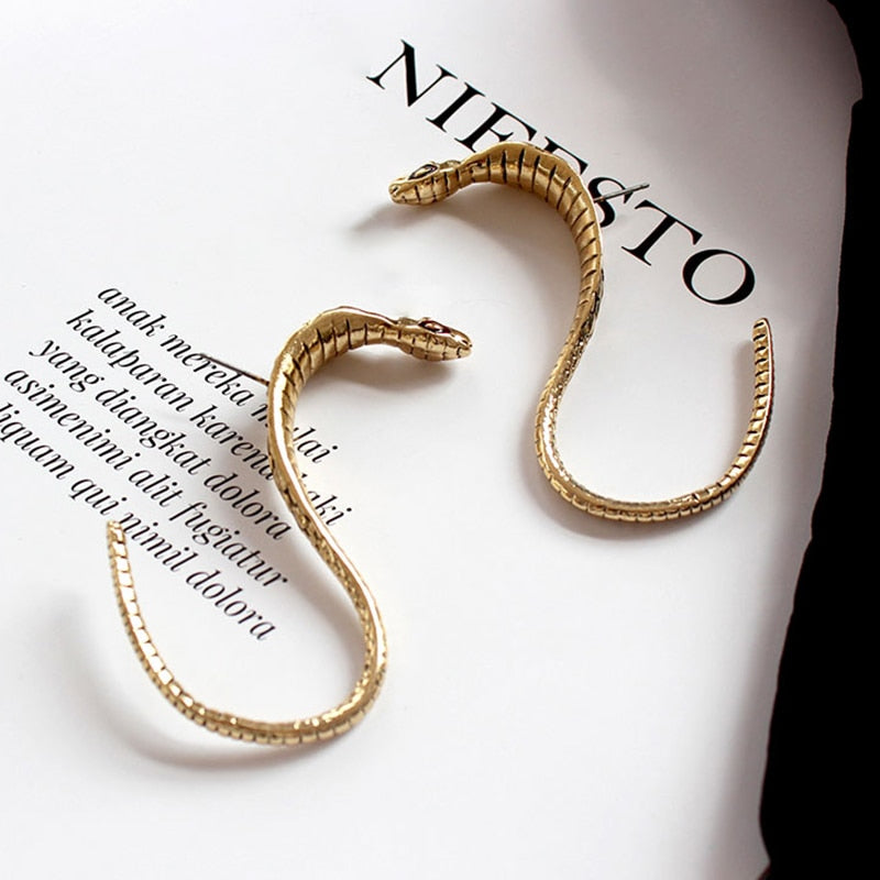 """Arty Snake"" Earrings"