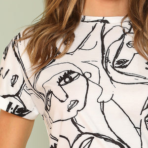 """ABSTRACT FACES"" TEE"