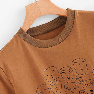 """FACES DRAWING"" TEE"