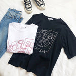 """ABSTRACT LINE FACES"" TEE"