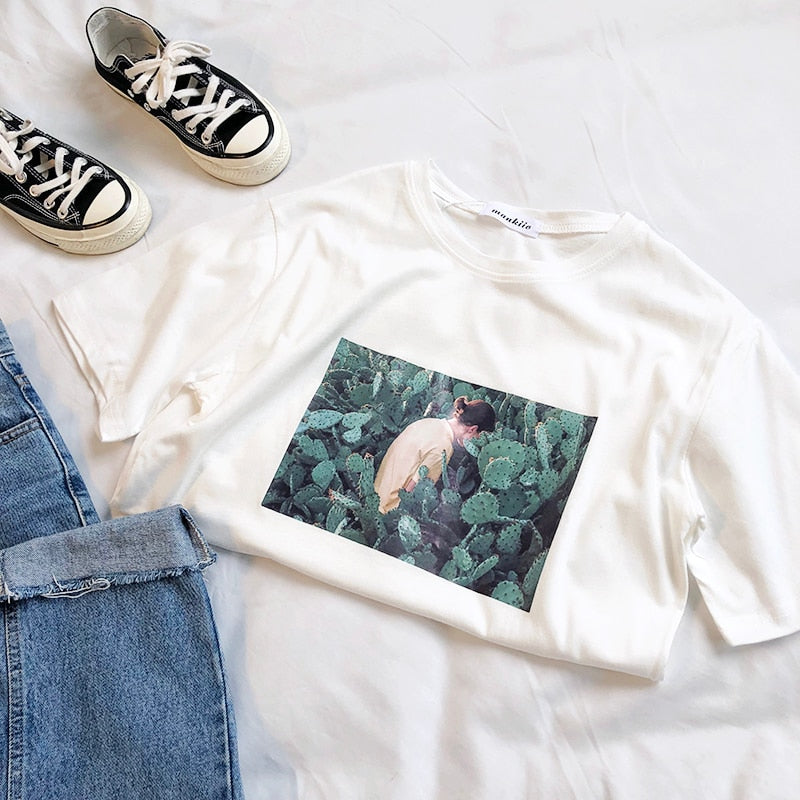 """Woman in Cactus"" TEE"
