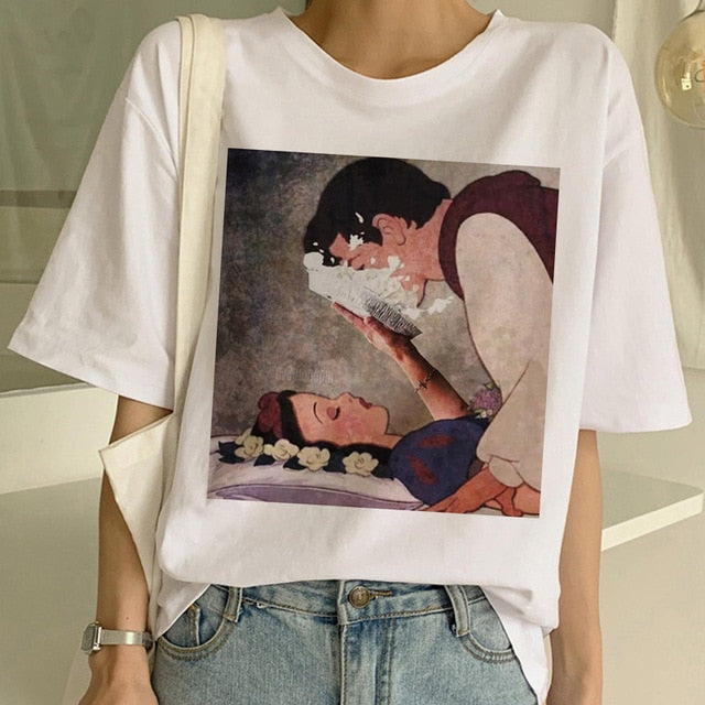 """Edgy Snow White"" TEE"