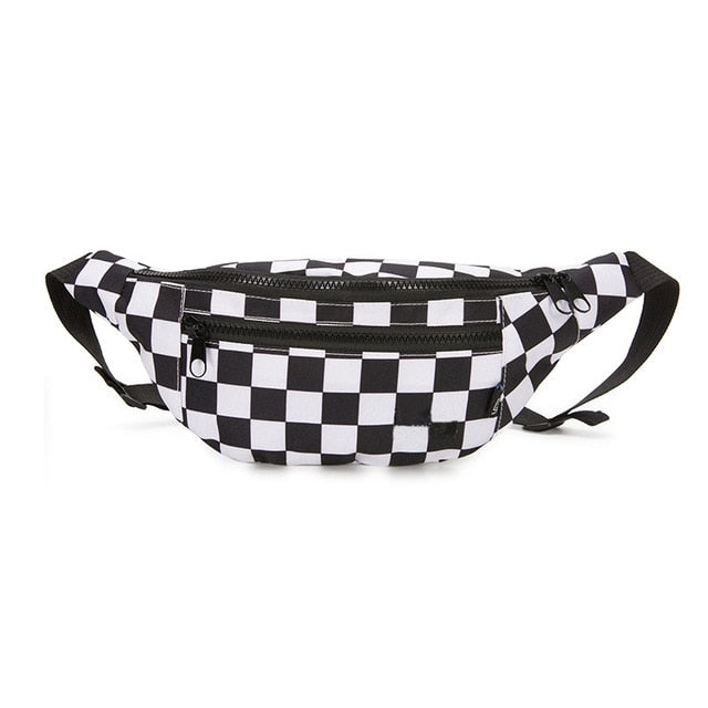 """Edgy Plaid"" Waist Bag"