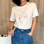 """Abstract Line Face"" TEE"